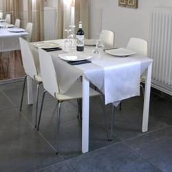 Nappe & Chemin de Table Blanc