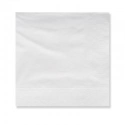Serviette 40x40 Blanc, 2 plis