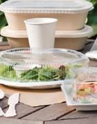 plats, plateaux, bols et emballages Bionic sont faits à 100% de pulpe
